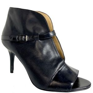 Marc Fisher Black Leather Stiletto Booties